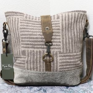 🆕 Myra Bag WAVES Canvas Shoulder Bag Medium Purse